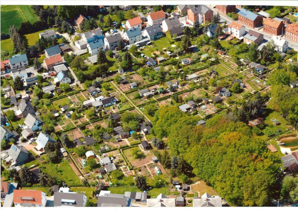 Kleingartenanlage in Reinsdorf OT Friedrichsgrün bei Zwickau.